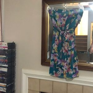 Express size 4 floral tube top dress